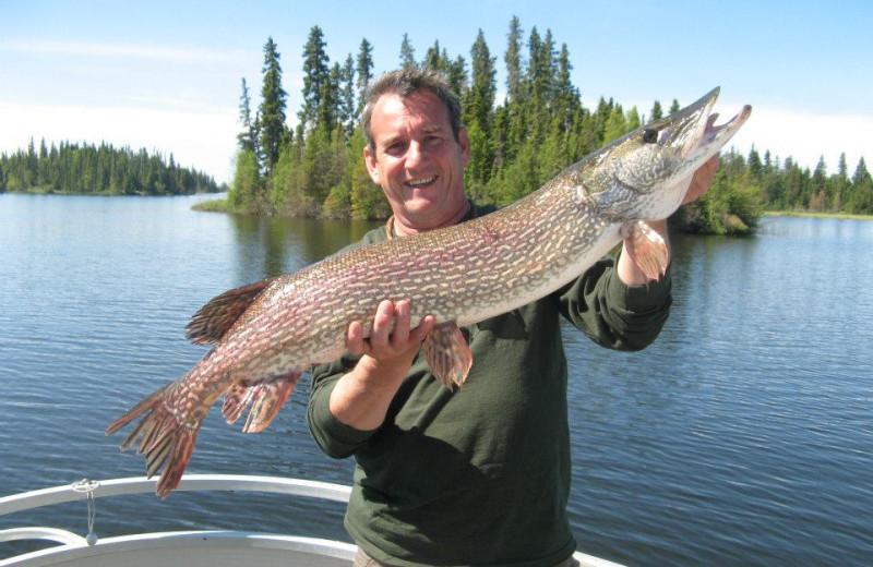 Fishing at Caribou Lodge.
