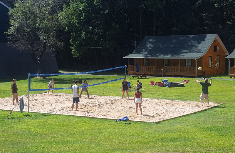 Volleyball court at Catskill Mountains Resort.