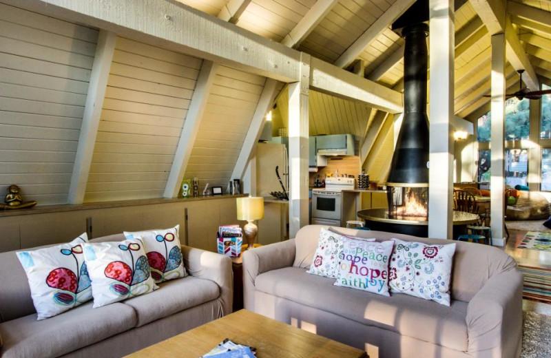 Vacation rental living room at Vacasa Rentals Lake Tahoe.