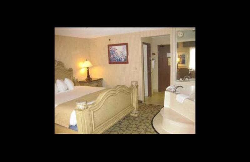 Guest suite at Baymont InnSuites Bridgeport.