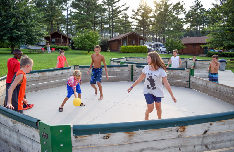 Outdoor games at Yogi Bear's Jellystone Park™ in Luray, VA.