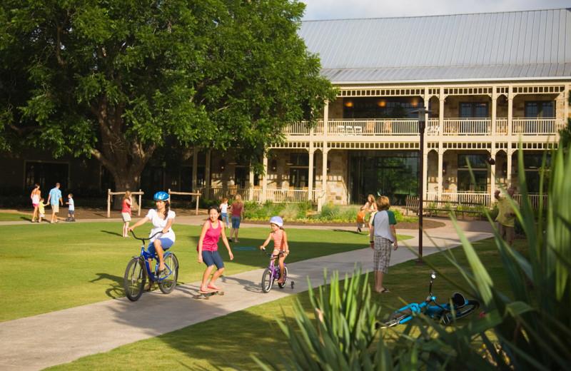Biking at Hyatt Regency Lost Pines Resort and Spa.