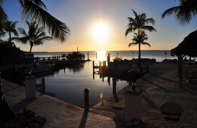 Sunrise at Lookout Lodge Resort.