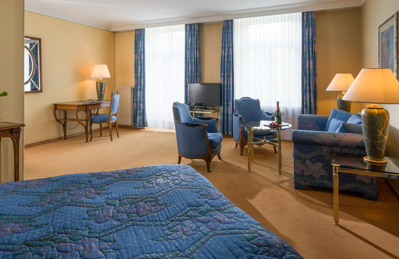 Guest room at Park Hotels Waldhaus.