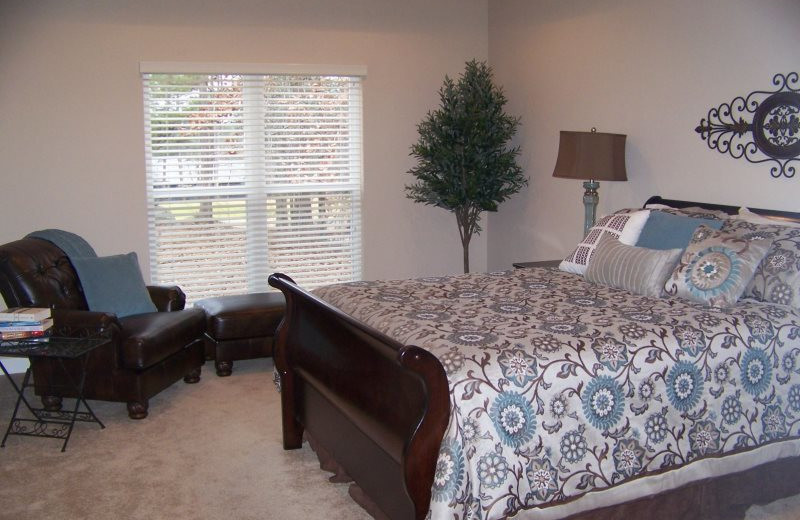 Rental bedroom at Village Villas Vacation Rentals.