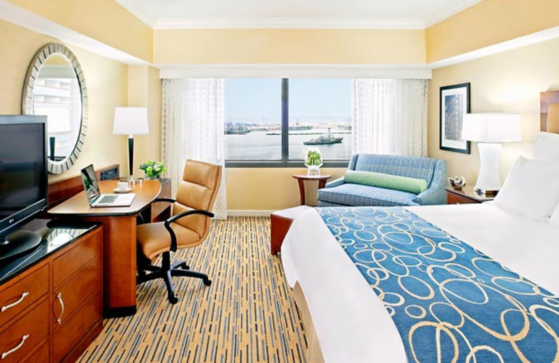 Guest room at San Diego Marriott Marquis & Marina.
