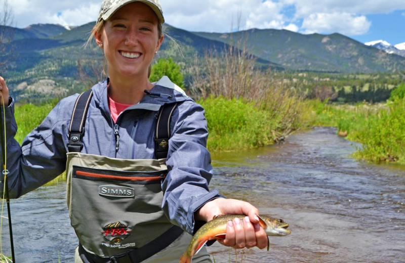 Fishing at Boulder Adventure Lodge.