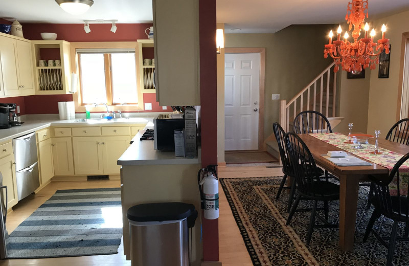 Rental kitchen at Lundquist Realty Vacation Rentals.