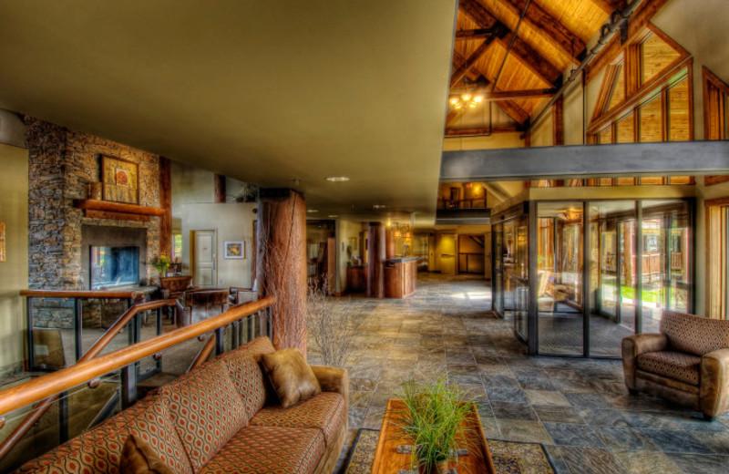Lodge interior at Elk Ridge Resort.