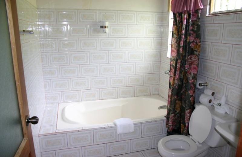 Guest bathroom at Finca Valverde Hotel.
