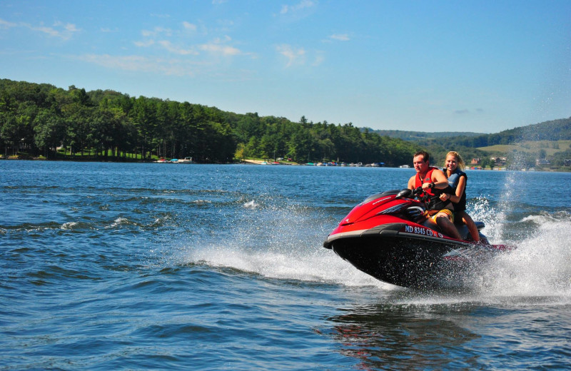 Lake activities at Deep Creek Vacations.