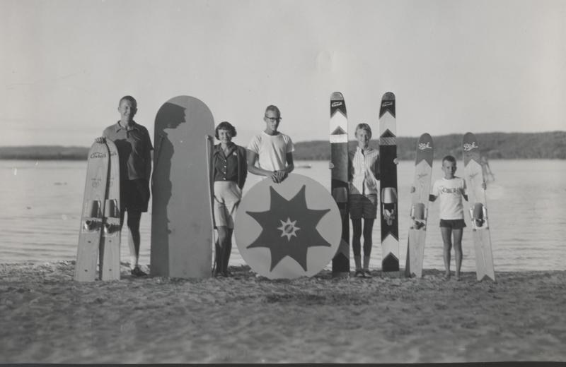 Historic photo of White Birch Lodge.