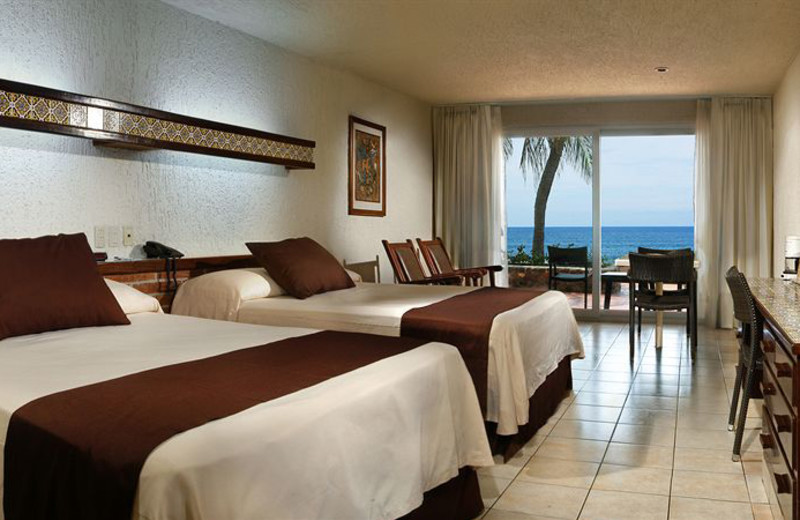 Guest room at Hotel Playa Mazatlan.