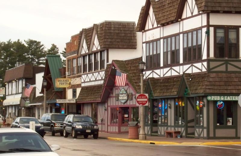 Town near Nitschke's Northern Resort.