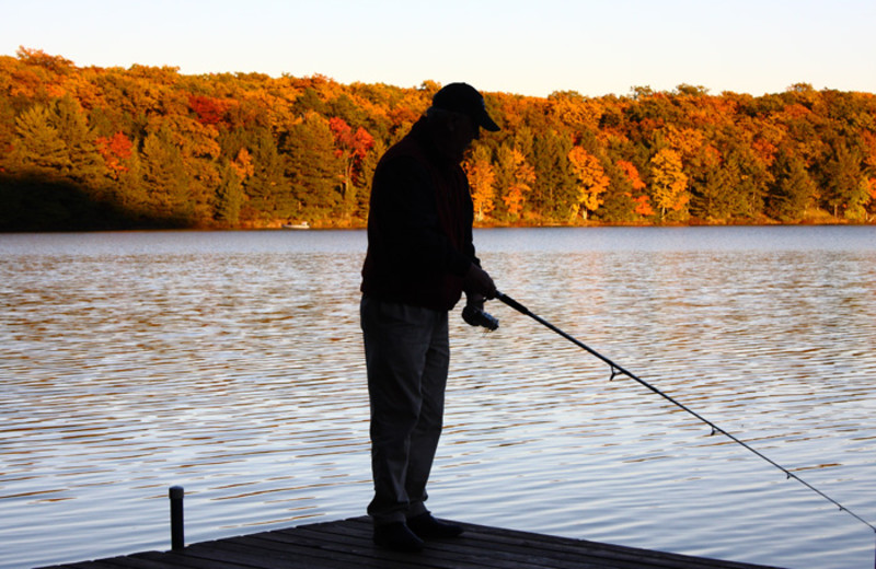 Fishing at White Birch Village Resort.