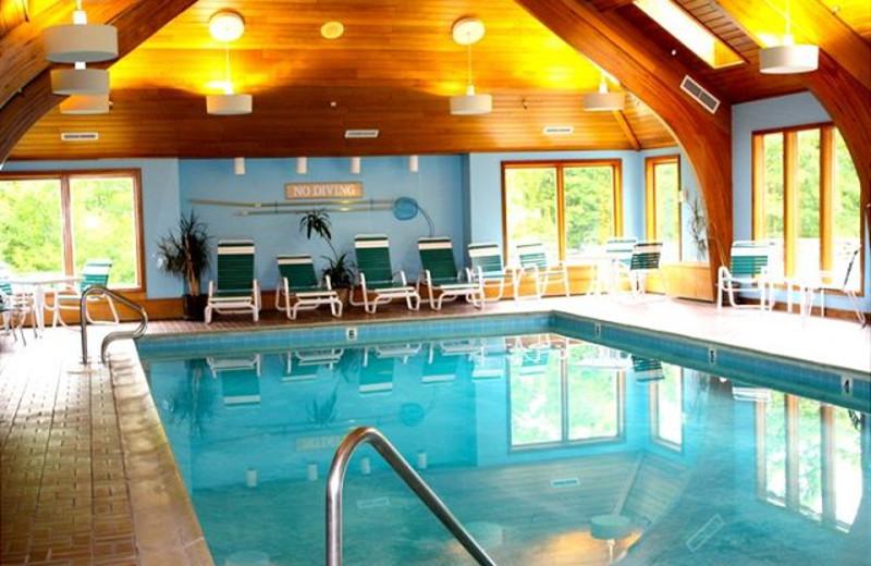 Indoor swimming pool at Highridge Condominiums.