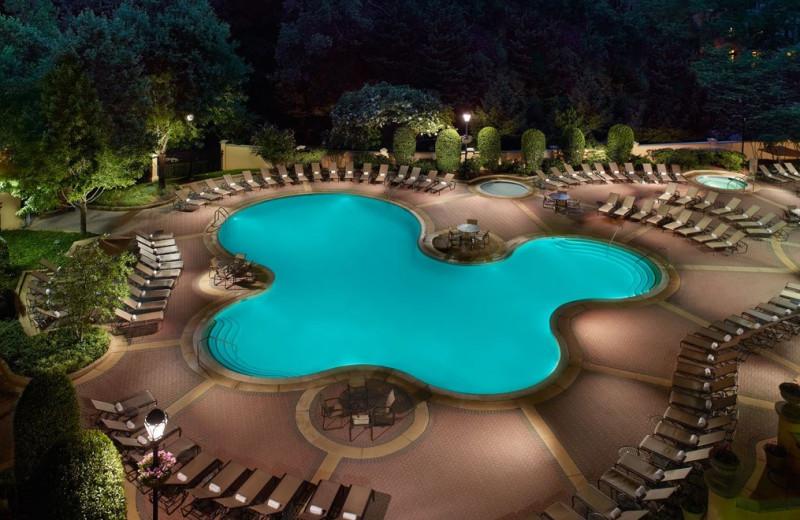 Outdoor pool at Omni Shoreham Hotel.