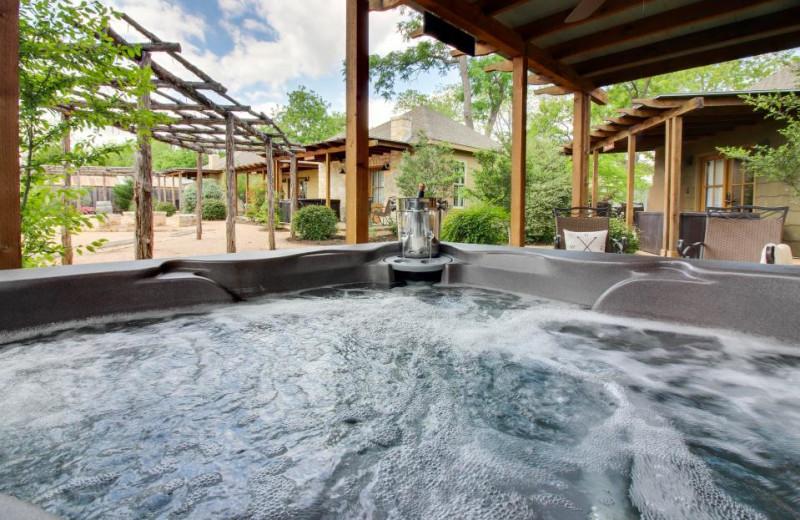 Rental hot tub at Vacasa Fredricksburg.