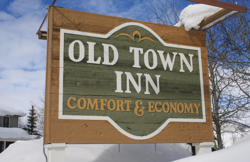 Welcome sign at Old Town Inn.