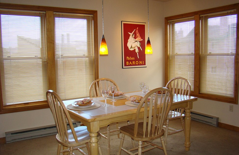 Guest dining room at Ferringway Condominiums.