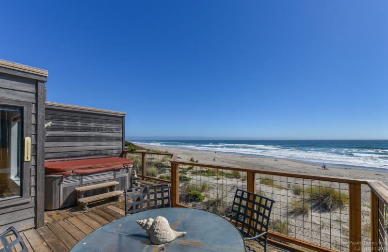 Rental balcony at Pajaro Dunes Resort.