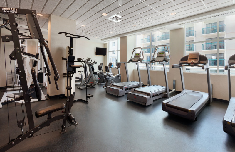 Fitness room at Outdoor pool at Holiday Inn Suites Ocean City.