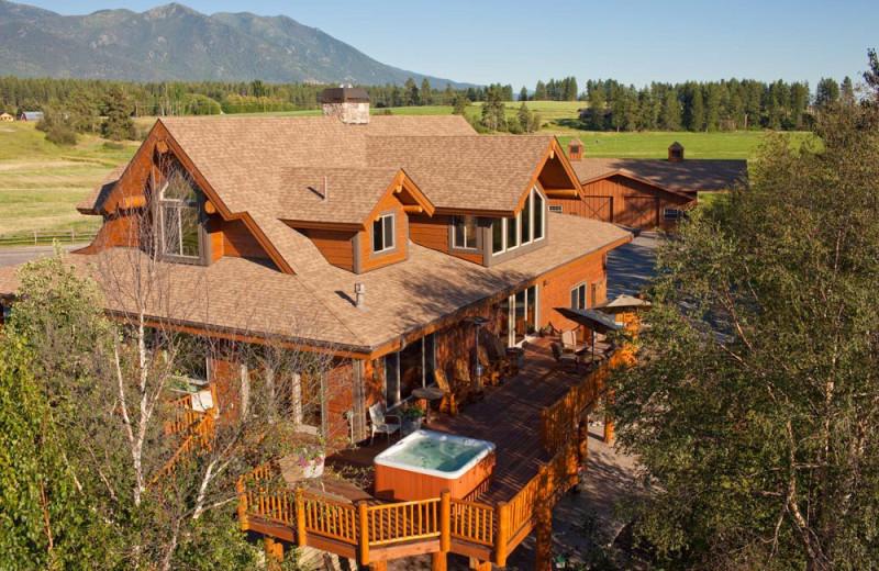 Vacation rental exterior at Gentry River Ranch.