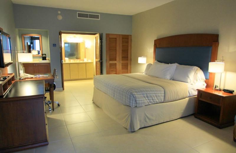 Guest room at Wyndham Garden at Palmas del Mar.