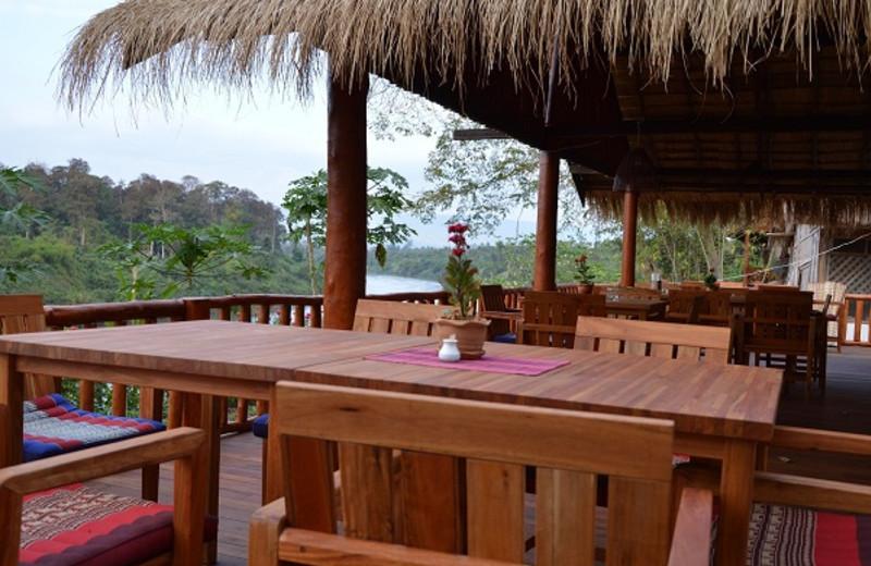 Patio at Ban Pako Eco-Lodge.