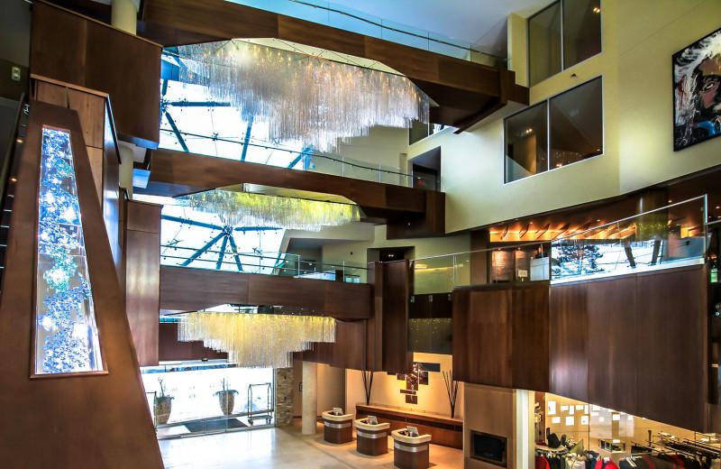 Lobby at Sparkling Hill Resort.