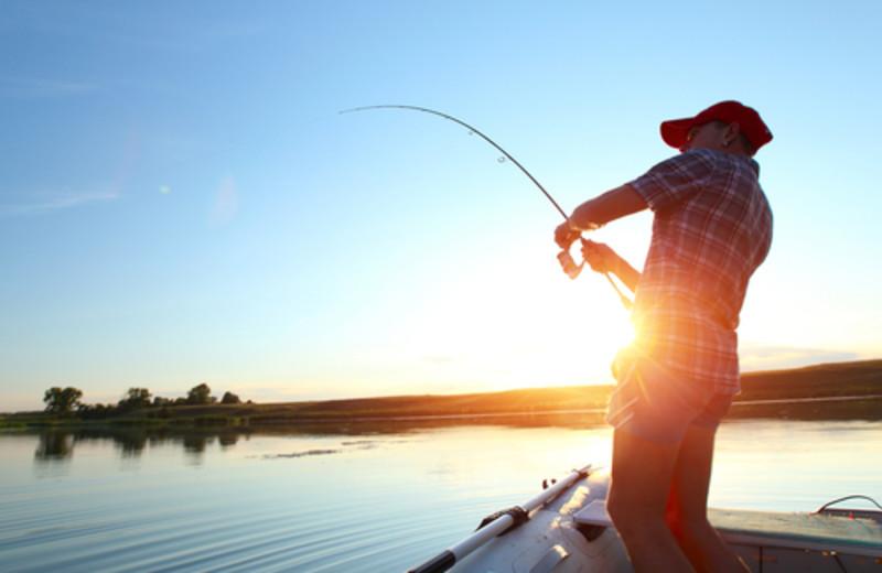 Fishing at Elk Lake Resort.