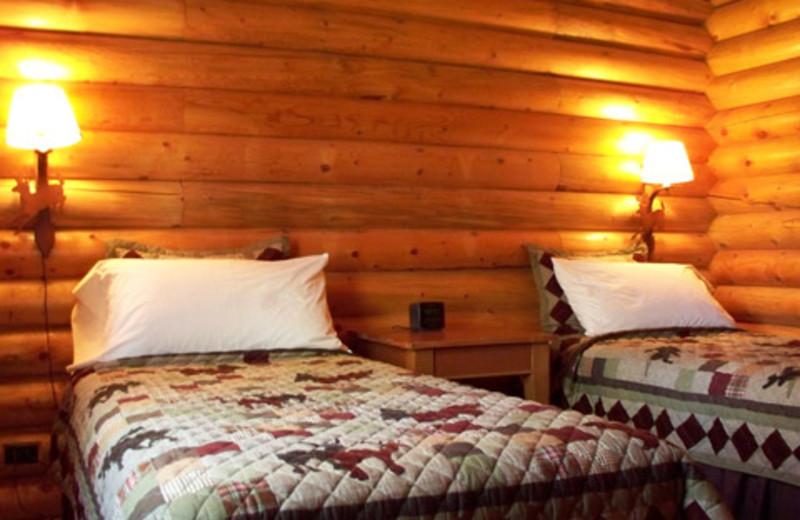 Guest bedroom at The Lodge at Palisades Creek.