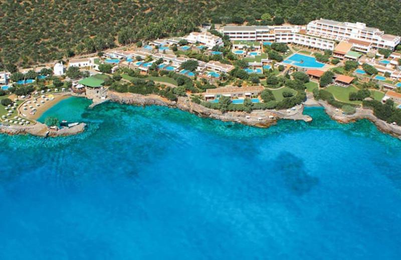 Aerial view of Elounda Mare Hotel.