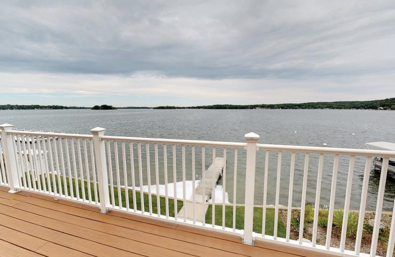 Lake view at BoatHouse Villa.