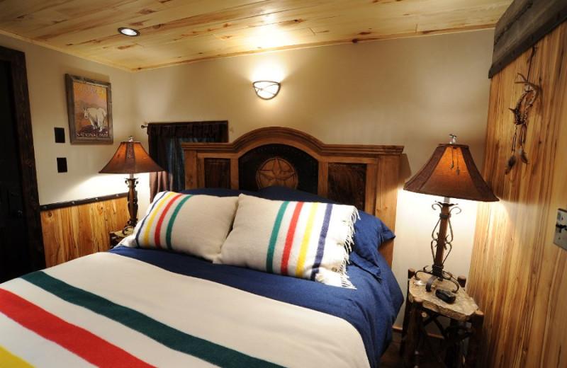 Guest bedroom at Izaak Walton Inn.