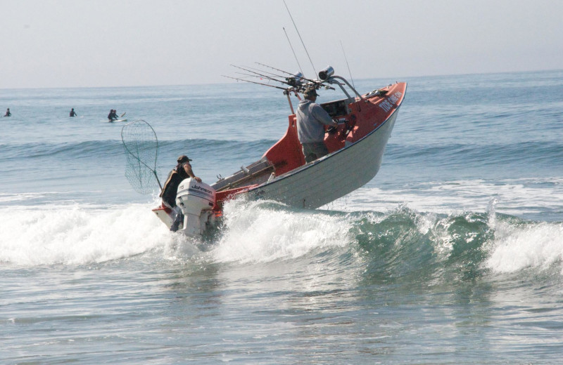 Fishing at Kiwanda Coastal Properties.