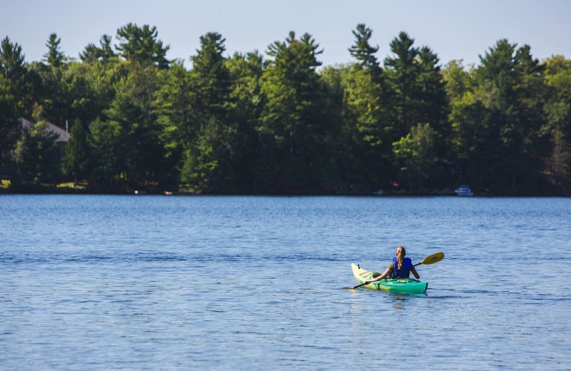 Kayaking at Great Blue Resorts- Lantern Bay Resort.