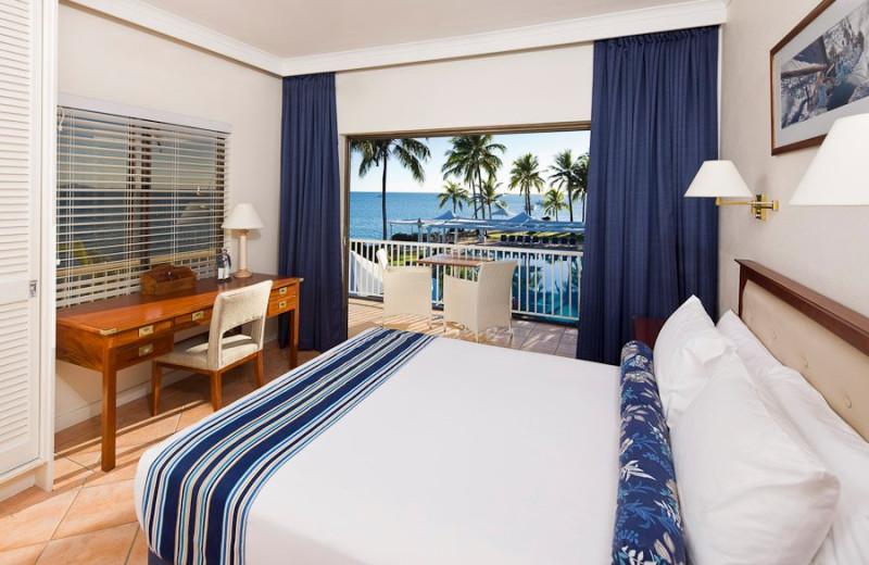 Guest room at Coral Sea Resort.