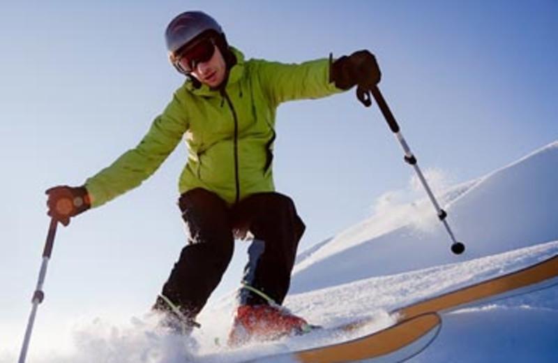 Skiing at The Haus Lakefront Lodging