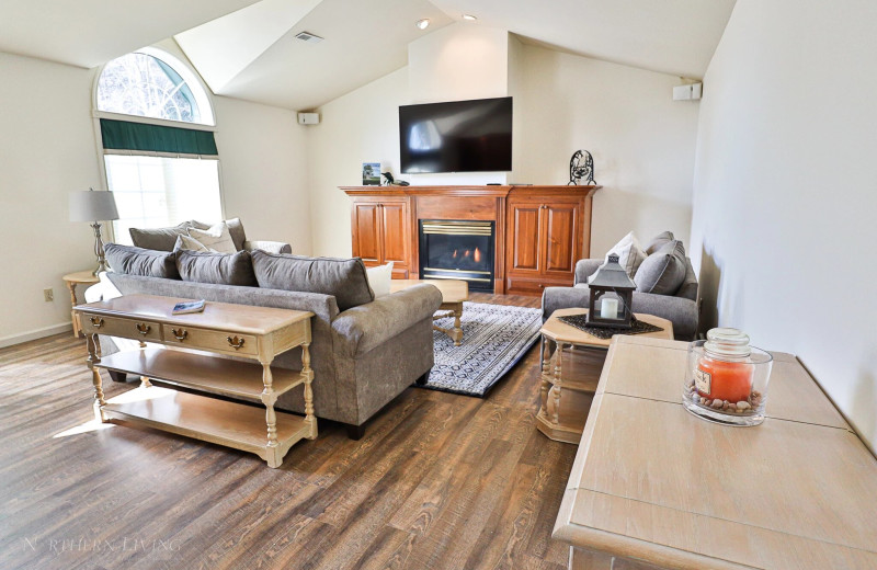 Rental living room at Northern Living - Luxurious Vacation Rentals.