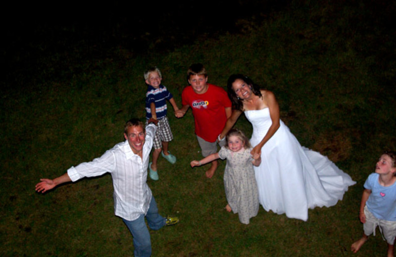Wedding celebration at Rising Wolf Ranch.