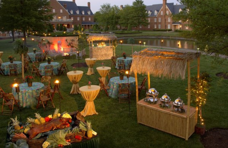Outdoor Reception at The Founders Inn