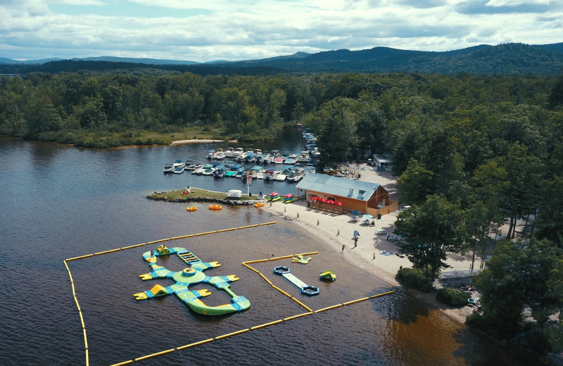 Aerial view of Westward Shores Camping Resort.