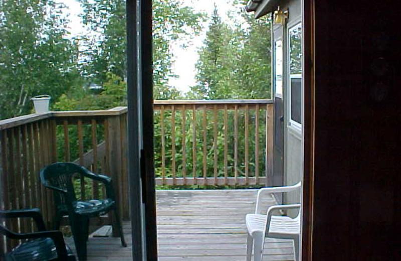 Cabin deck at Tamarack Resort.