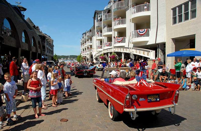 Holiday parade at Bay Harbor Resort and Marina.