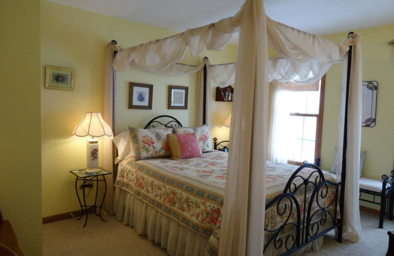 Guest room at Seven Sisters Bed & Breakfast.