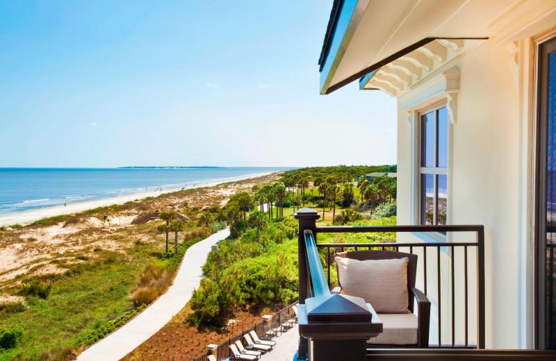 Guest balcony at Westin Jekyll Island.