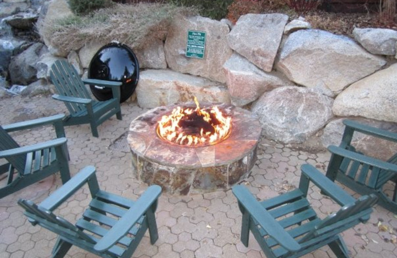 Fire pit at Olympic Village Inn.