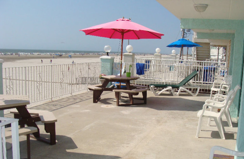 Patio view at Four Winds of Wildwood Crest.