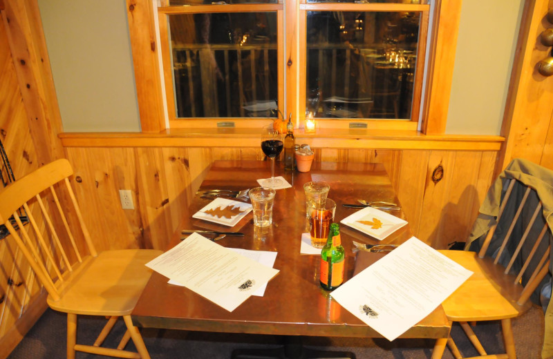 Dining at New England Outdoor Center.